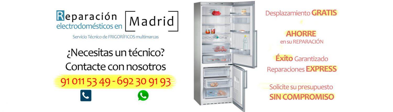reparar frigorifico en madrid y alrededores